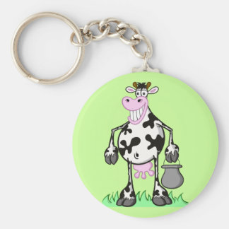 "KEYCHAIN ""funny cow"" cartoon"