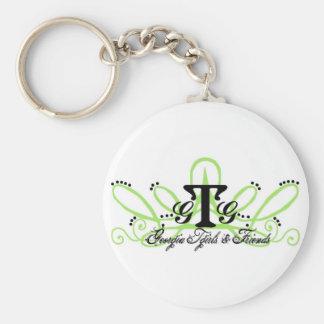 Keychain-Ga Tgirl's Green Basic Round Button Keychain