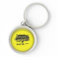 Keychain - Geneaology goes on ... keychain