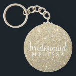 "Keychain Glitter Bridesmaid<br><div class=""desc"">Glitter Keychain for Bridesmaid Gift, great to include in Heart Fab Bridesmaid Tote bag. Keychain has Bridal Party member title and place for their name, use date, couples name or any other name desired if needed. Decrease text size and/or use single space to fit longer titles and names into text...</div>"