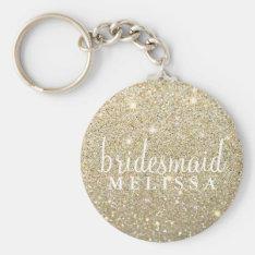 Keychain Glitter Bridesmaid at Zazzle