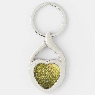 Keychain Gold Mosaic Sparkley Texture