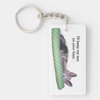 Keychain - Gray kitten