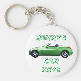 kEYCHAIN GREEN 350 Z, HENRY'S, CAR KEYS