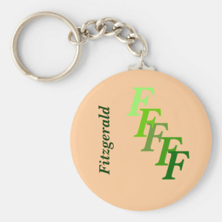 Keychain - Green Monogram with surname