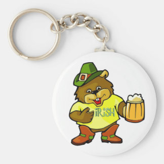 Keychain-Happy St. Paddy's Day Irish Basic Round Button Keychain