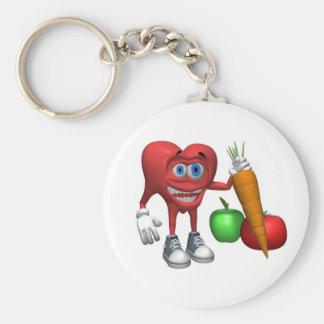 Keychain-Health Heart Fruits and Veggies Keychain