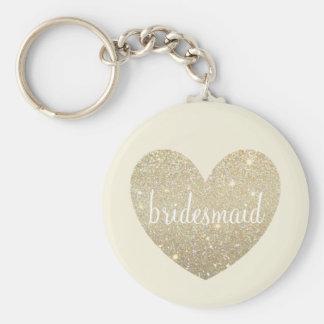 Keychain - Heart Fab Bridesmaid