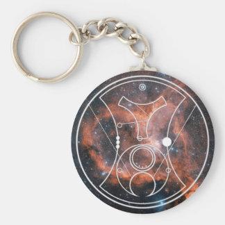 Keychain: Hello, Sweetie!  Heart Nebula Basic Round Button Keychain