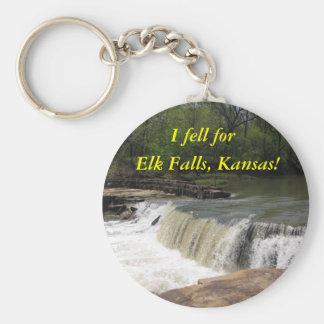 Keychain:  I fell for Elk Falls, Kansas! Basic Round Button Keychain