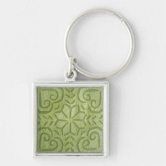 Keychain- Indian Applique Green Keychain