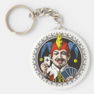 KEYCHAIN JOKER ROYAL CARD PLAYER CLUB CARD PLAYER