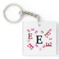 Keychain - Jumbled Letters in Red