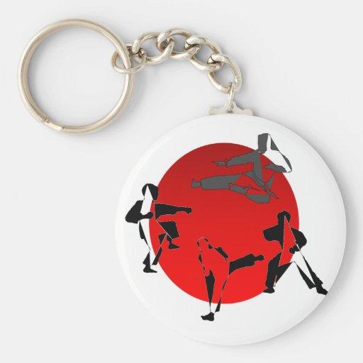 keychain karate martial arts kick