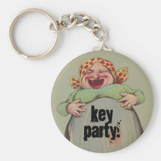 Keychain Key Party Fun Humor LOL Lady laughing