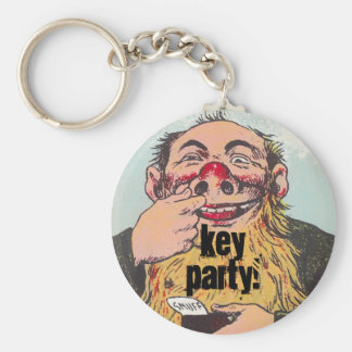 Keychain Key Party Fun Humor snuff chewing Man