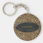 Keychain Leopard Stone Add Your Name Key Chains