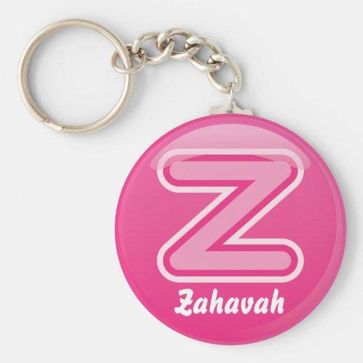 Keychain Letter Z  Pink Bubble