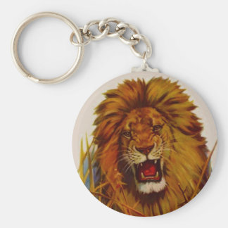 KEYCHAIN Lion Snarling Aggressive Big Cat Cats