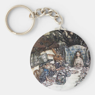 Keychain:  Mad Hatter Tea Party - by Rackham