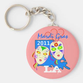 Keychain Mardi Gras Masks mask Louisiana LA Map