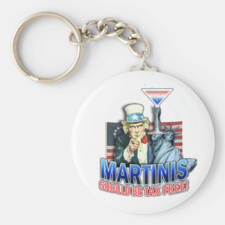 Keychain - Martinis Should be Tax Free