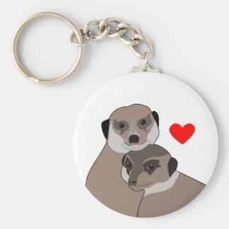 """Keychain """"Meerkats in Love"""""""
