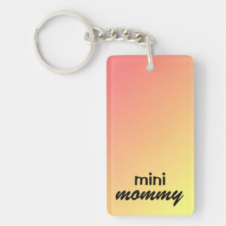 "Keychain ""mini mommy"" Add child's Photo and Name"