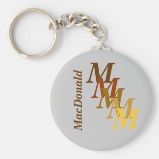 Keychain - Monogram with surname