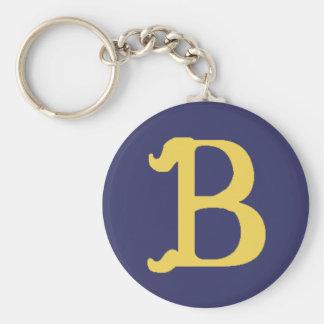Keychain Monogrammed Letter B (black pictured)