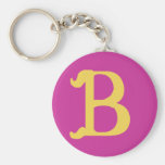 Keychain Monogrammed with the Letter B