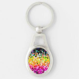 Keychain Mosaic Sparkley Texture Keychains