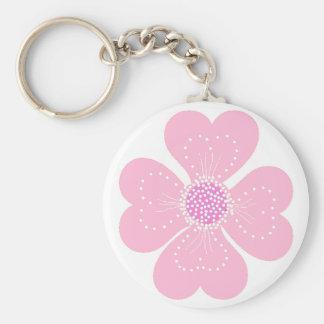 Keychain Pink Heart Flower