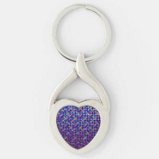 Keychain Polka Dot Sparkley Jewels
