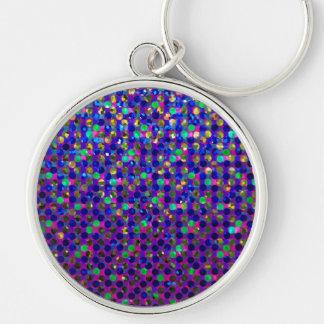 Keychain Polka Dots Sparkley Jewels
