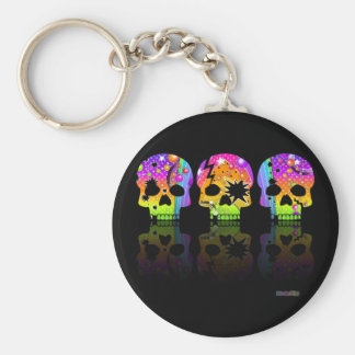 Keychain - POP ART SKULLS
