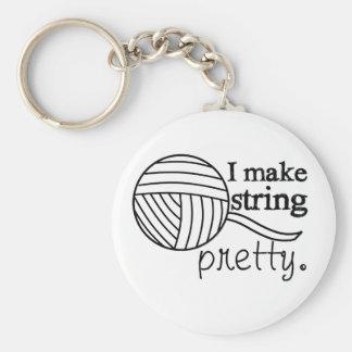 Keychain Pretty String/Yarn Custom Color Light