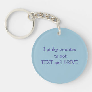 keychain promise to not text and drive