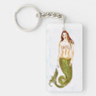 KeyChain - Rectangle Sea Surf Sirena