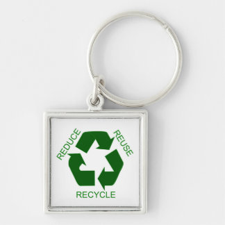 Keychain - Reduce, Reuse, Recycle