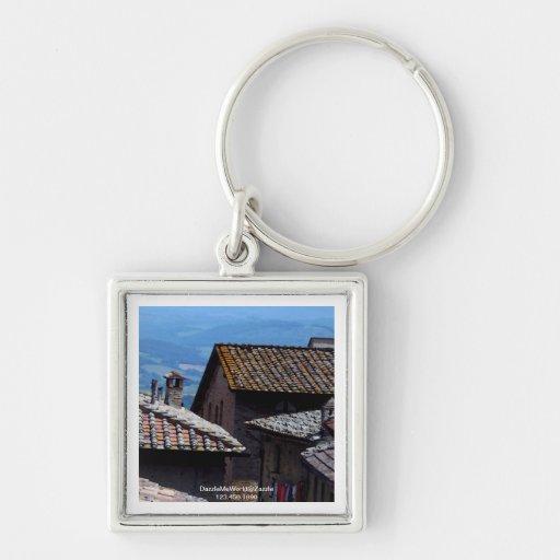 Keychain - Rooftops over San Gimignano