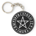 keychain Rune Pentacle on Blk