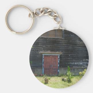 Keychain - Rustic Red Wood Door