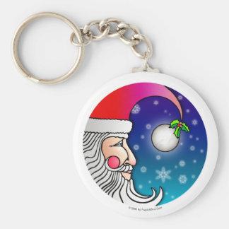 Keychain - Santa Claus Moon