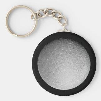 Keychain: Saturn's moon Rhea Keychain
