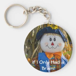 Keychain:  Scarecrow Basic Round Button Keychain