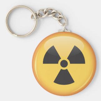 Keychain shiny radiation symbol