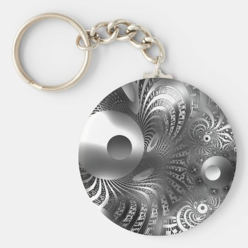 Keychain Silver Space Key Chains