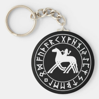 Keychain Sleipnir Shield on Blk