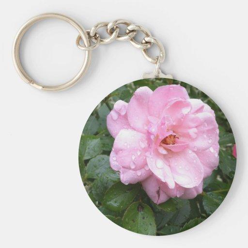 Keychain - Soft Pink Rose